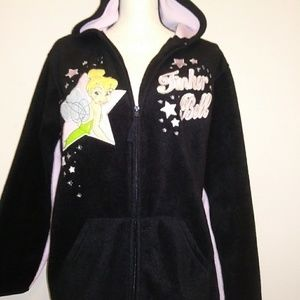 Disney Tinker Bell fleece zip up hoodie